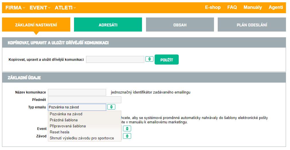 Chcete poslat účastnické diplomy nebo pozvánku na závod? Využijte ORGSU integrovanou službu hormadný mailing.