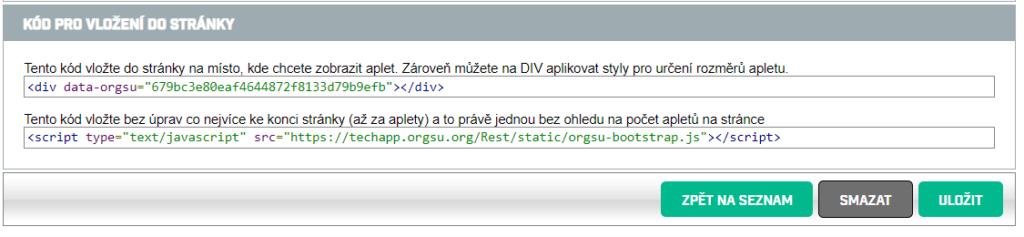 Posílení webu závodu s ORGSU databázovými službami je jednoduché. Například kalendář závodů na web. získáte nahráním 2 html řádků.