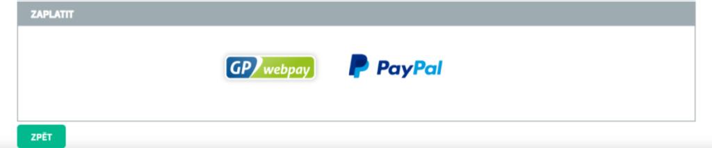 Cena Orgsu služeb - platba faktury