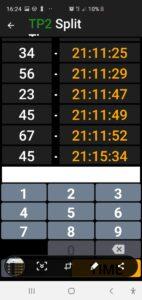 Zadávání startovních čísel na měřícím bodu je snadné. Apka má 3 způsoby jak startovní čísla nabírat.